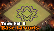 Town Hall 8 Base Design Layouts Clash of Clans