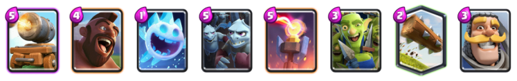 Cannon Cart Hog Rider Deck Clash Royale