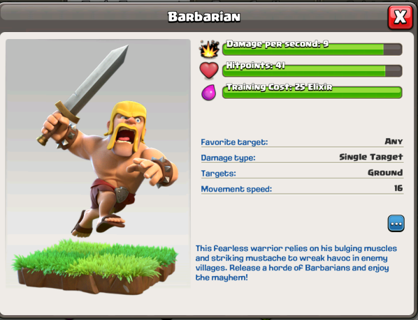 Clash of Clans Battle Ram Barbarians