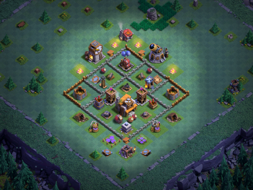 Anti-2 Star Builder Hall 5 Base Design Clash of Clans