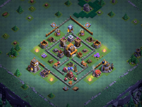 Anti-Boxer Giant BH5 Design Clash of Clans