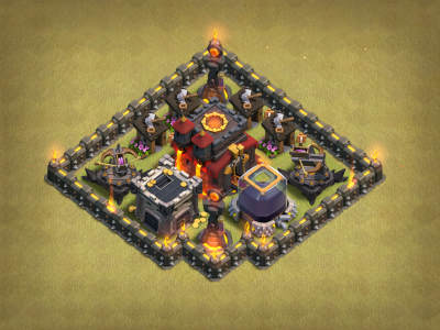 Clash of Clans Giant Builder Hut Base Design