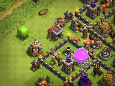 Clash of Clans Giant Builder Hut Base Design