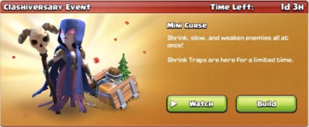 Mini Curse Event Clash of Clans August 2017 Update