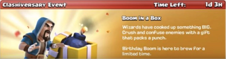 Boom in a Box Event Clash of Clans August 2017 Update