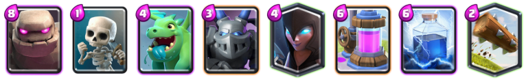 Clash Royale Triple Elixir Challenge Golem Night Witch Deck