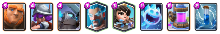 Clash Royale Giant Mini PEKKA Ice Wizard Deck