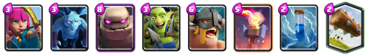 Clash Royale 2v2 Decks Golem Elte Barbarians