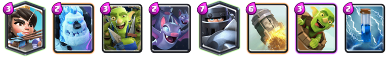 Mega Knight Zap Bait Deck Clash Royale