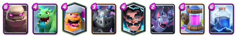 Ramp Up Challenge Golem Lumberjack Deck Clash Royale