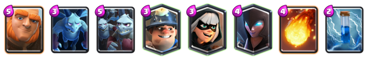 Ramp Up Challenge Giant Miner Deck Clash Royale