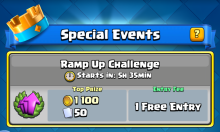 Ramp Up Challenge Decks Clash Royale