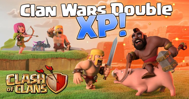 Clan War Double XP Clash of Clans Event