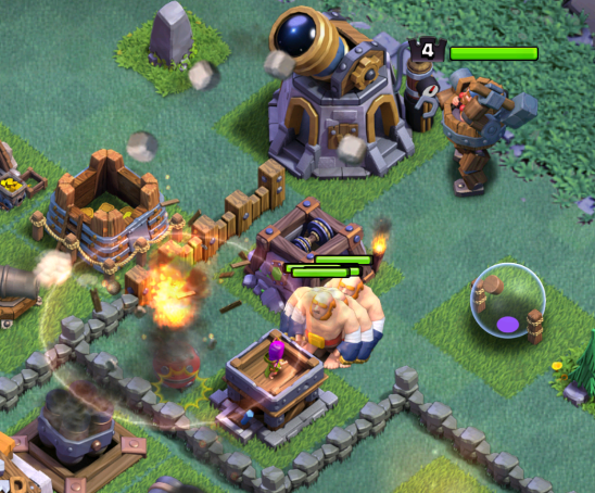 Clash of Clans Battle Machine Attack Strategy Builder Base