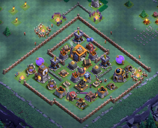 Best Builder Hall 7 Base Design Layout Clash of Clans