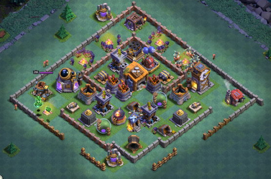 Best Builder Hall 7 Base Designs In Clash Of Clans Clash For Dummies