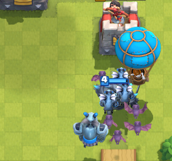 Clash Royale PEKKA Balloon Push