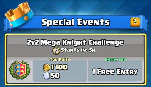 Mega Knight 2v2 Draft Challenge Clash Royale