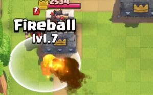 Clash Royale Fireball vs Wizard