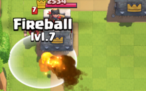 Clash Royale Fireball vs Wizard