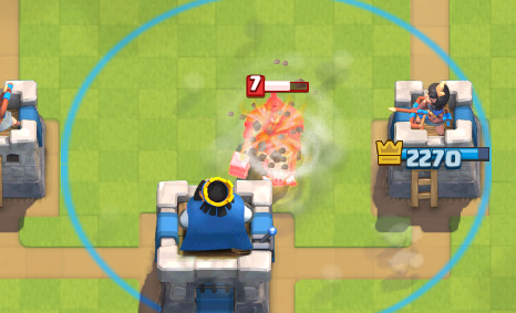Clash Royale Hog Activating King's Tower Tornado