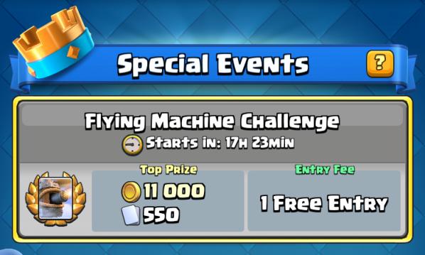 Flying Machine Challenge Clash Royale