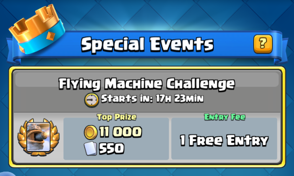 Flying Machine Challenge Clash Royale