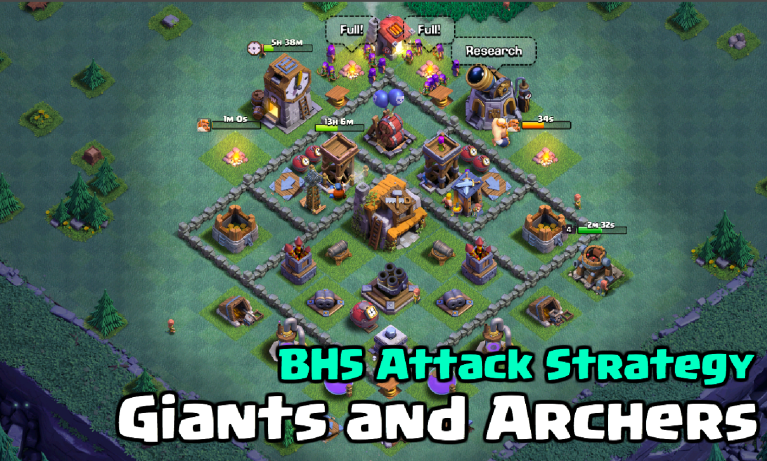 Builder Hall 5 Strategy Giants and Archers Clash of Clans Builder Base