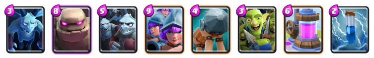 Golem Three Musketeers Deck Beatdown Deck Clash Royale