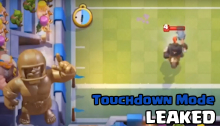 Clash Royale Touchdown Mode Gameplay LEAKED