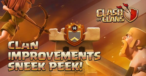 Clan Improvements Sneak Peek Clash of Clans October 2017 Update