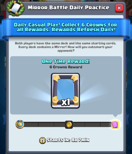 Mirror Battle Challenge Clash Royale