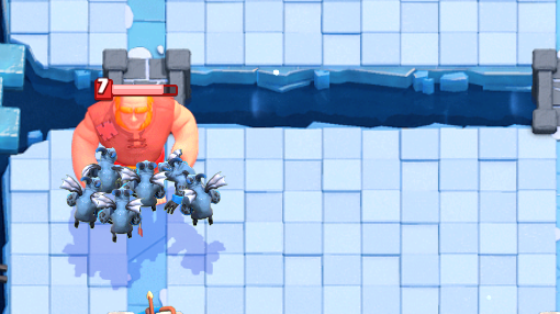 Clash Royale Giant vs Minion Horde