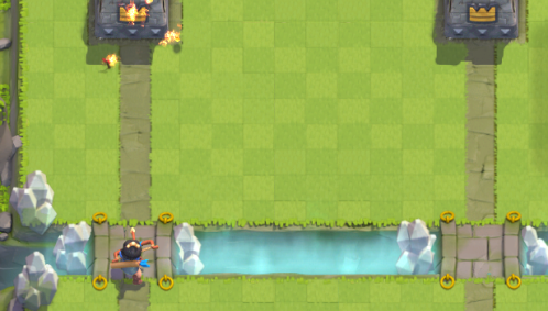 Clash Royale Princess Log Bait