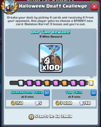 Halloween Draft Challenge Rewards Clash Royale