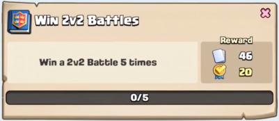 Win 2v2 Battles Quest Clash Royale