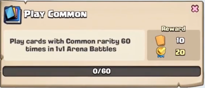 Play Common Quest Clash Royale