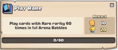 Play Rare Quest Clash Royale