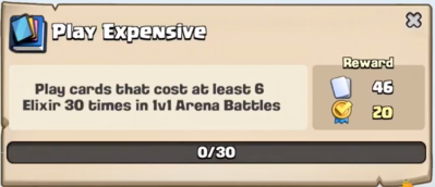 Play Expensive Quest Clash Royale