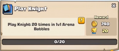 Play Knight Quest Clash Royale