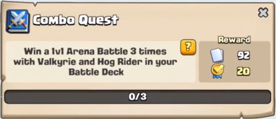 Combo Quest Clash Royale