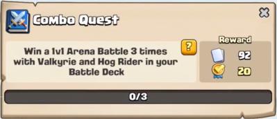 Combo Quest Clash Royale