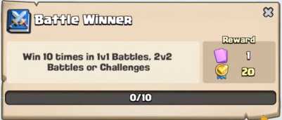 Battle Winner Quest Clash Royale