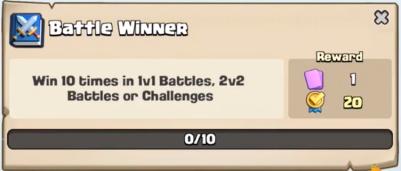Battle Winner Quest Clash Royale