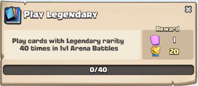 Play Legendary Quest Clash Royale