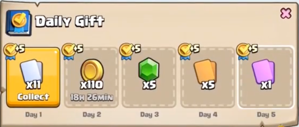 Daily Gift Clash Royale October Update