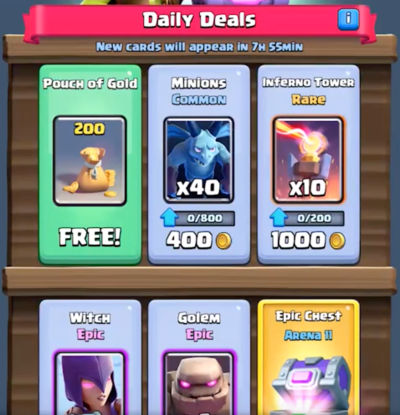 New Epic Shop Clash Royale October Update