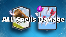 Clash Royale All Spells Damage