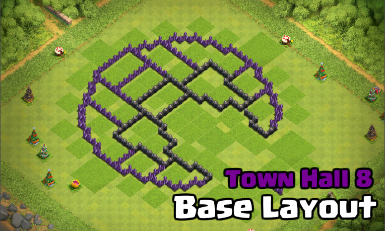 best town hall 8 base design layout circle of doom clash for dummies