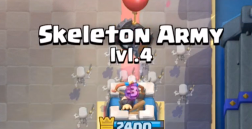 Skeleton Barrel vs Skeleton Army Clash Royale